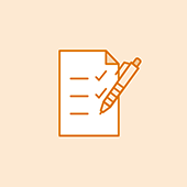 Assets icon with a pen and paper
